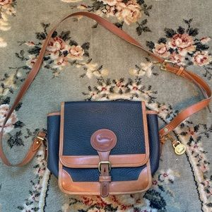 All weather leather crossbody